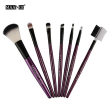 7pcs/kits Professional Nylon Makeup Brushes Set Cosmetics Foundation Brush Tools For Face Powder Eye Shadow Eyeliner Lip Kits