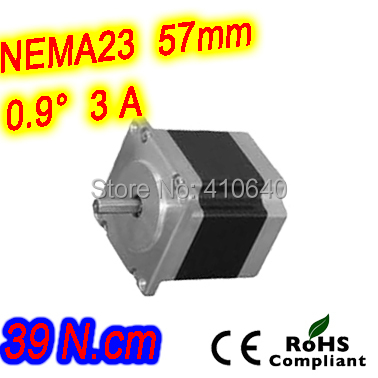 цена на 6 pieces per lot high resolution step motor 23HM16-3006S L 41 mm Nema 23 with 0.9 deg 3 A 39 N.cm and unipolar 6 lead wires