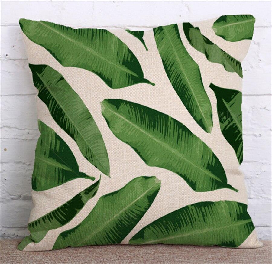 ZXZXOON Tropik Bitki Yaşıl yarpaqlardan Monstera Yastığı - Ev tekstil - Fotoqrafiya 4