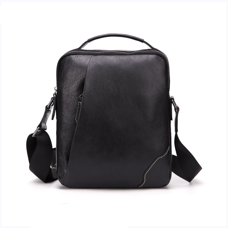 Men's new solid color shoulder bag Leather hand diagonal package Oil wax business casual business bag pink solid color off shoulder crop bodycon sweaters vests