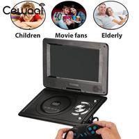 High Quality 9 LCD Display 720P HD VCD DVD Media Player EU Plug Portable Support MP3