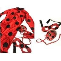 Hot Lady Bug Kids Costumes Sexy Girl Cat Spandex Miraculous Ladybug Noir Romper Girls Boys Halloween