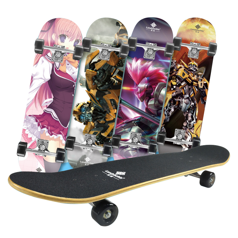 Double Sided Four-Wheel Children Longboard Skateboard Complete Deck Skate Board Skate Scooter Outdoor Extreme Sports Hoverboard