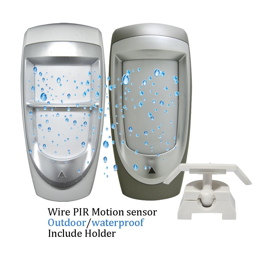 (1 pçs) 12vdc impermeável ao ar livre com fio infravermelho sensor de movimento duplo pir detector alarme paradoxo dg85 casa segurança pet imunidade
