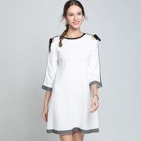 Women Knitwear sweater Dress Autumn Spring Cotton Long Sleeve Mini Pullover Dress