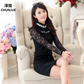 Plus Size L-4xl 5xl Woman T-shirt New Tops Fashion Autumn Style Tees Lady brand clothing sexy lace t-shirts casual dress blusas