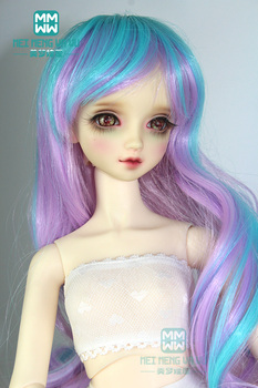 BJD doll clothes accessories for doll fit /3 1/4 1/6 BJD/SD doll wig Large wave curly hair silicone hair cap image