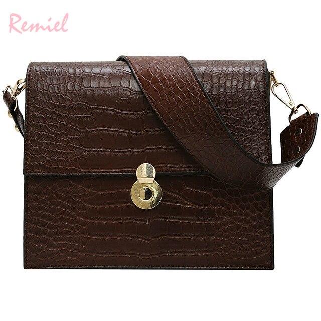 70480c2c370d US $18.68 |Aliexpress.com : Buy Vintage Fashion Female Tote bag 2019 New  Quality PU Leather Women's Designer Handbag Crocodile Pattern Shoulder ...