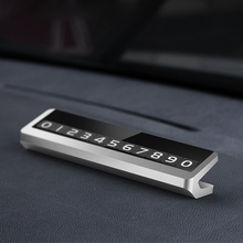 Metal Temporary Parking Phone Number Shifter Car Sign Flip Light Digital Board Sticker Auto Accessories