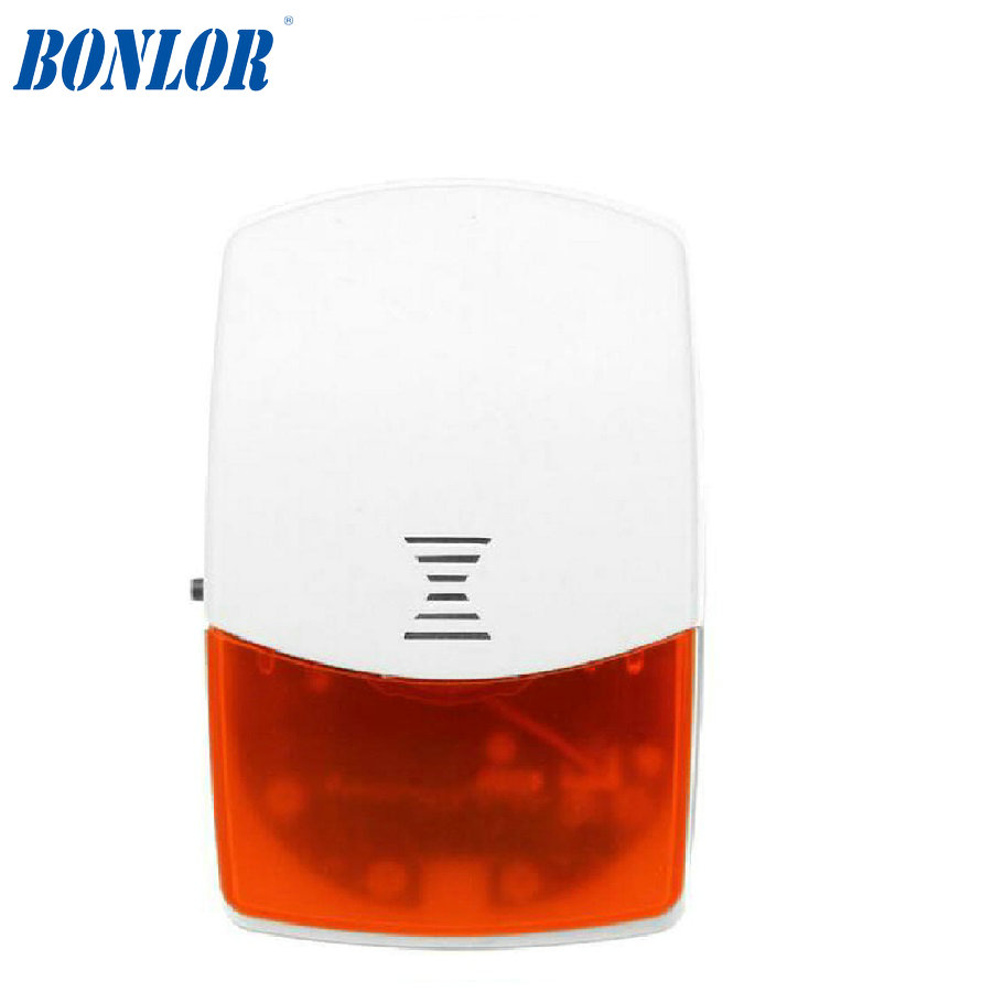 433MHz Wireless Outdoor Siren Sound & Strobe Flash Light Alarm for Home Security Alarm System