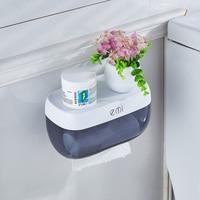 Simple Creative Plastic Toilet Tissue Box Paper Hole Punch Paper Tube Bathroom Waterproof Paper Towel Rack
