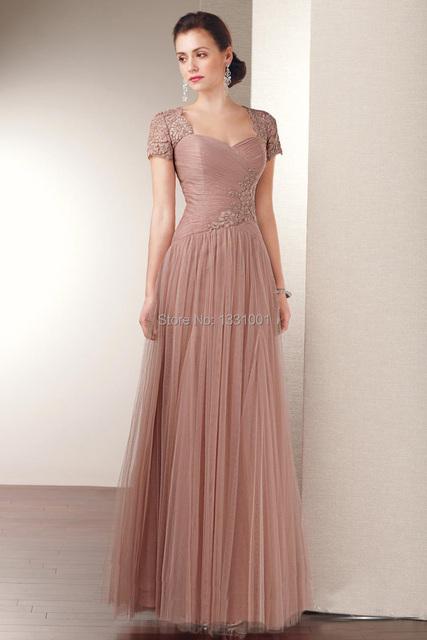 Vestido De Festa Longo 2016 Elegante Appliqued Plus Size Mãe Da Noiva Vestidos Longos de Festas Online Vestido De Madrinha