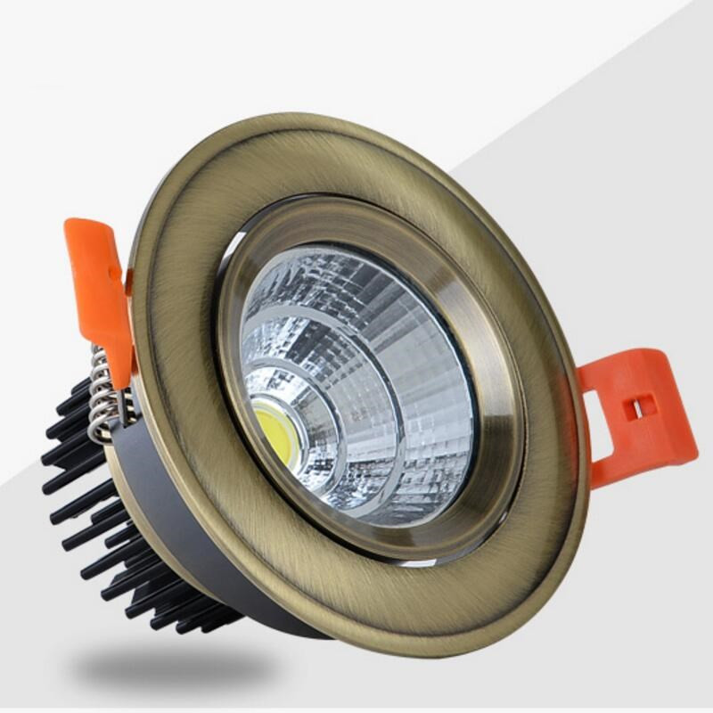 Super Bright Dimmable LED Downlight COB 5W 7W 9W 12W 15W 20W 30W LED Ceiling Recessed Led Spot Light Indoor down lamp Lighting in Downlights from Lights Lighting