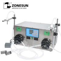 ZONESUN 2 Heads Perfume Water Juice Essential Oil Electric Digital Control Peristaltic Pump Liquid Filling Machine 3 2500ml