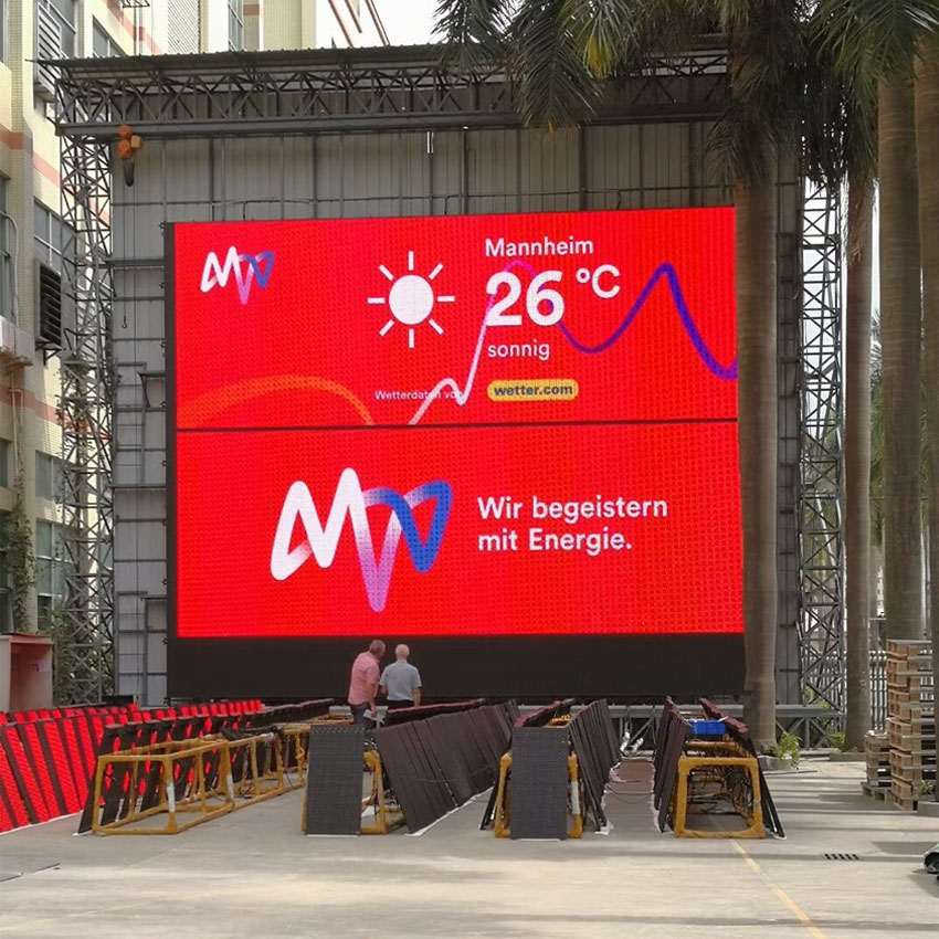 SMD/DIP16 Led Transparent Screen Full Color Video Led Mesh Screen For Outdoor Advertising