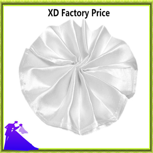 White table napkin satin fabric for restaurant banquet free shipping