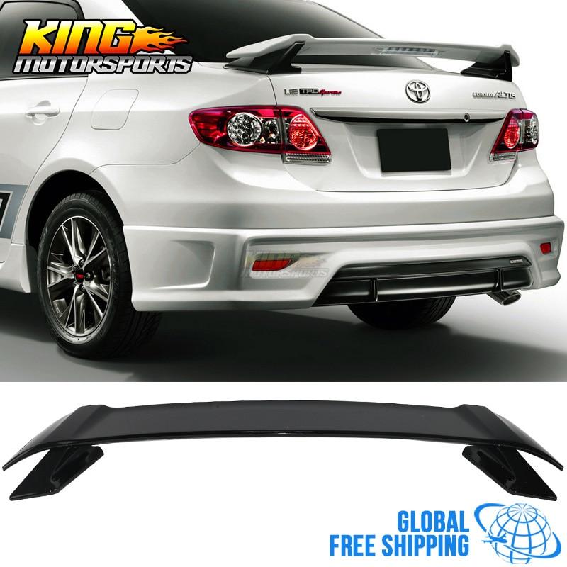 For 09 13 Toyota Corolla Trd Sportivo Trunk Spoiler Wing