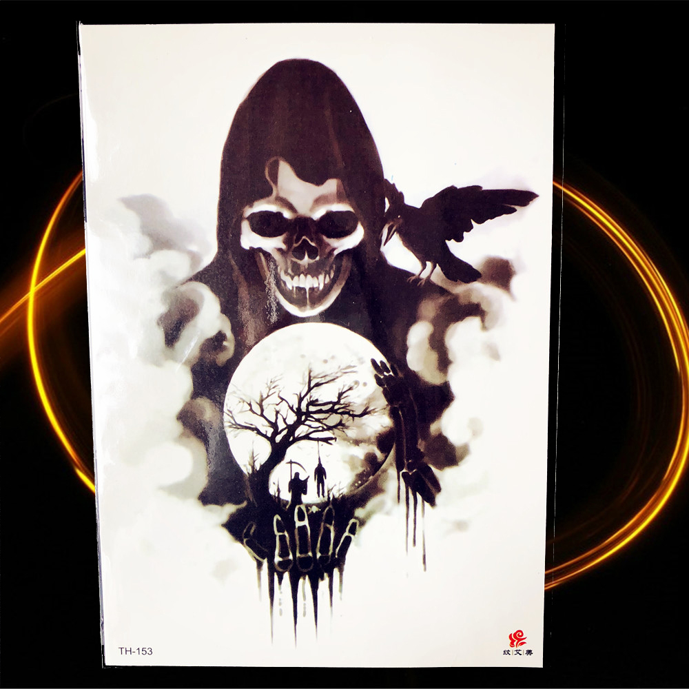 Halloween Horrifying Demon Temporary Tattoo Women Chest Joker 1