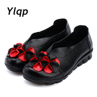 Leather Handmade Women S Shoes Soft Bottom Retro Round National Wind Flat Bottomed Shallow Mouth Comfortable