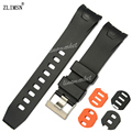 ZLIMSN 20 мм 22 мм Ремешки Для Наручных Часов Черный Orange Diver Резиновые Загнутым Концом Ремешок Ремешок Reloj Hombre 2016 OME16
