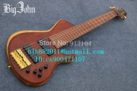 free shipping new the 7 strings electric bass guitar in brown with elm body and passive pickup+foam box JT 14