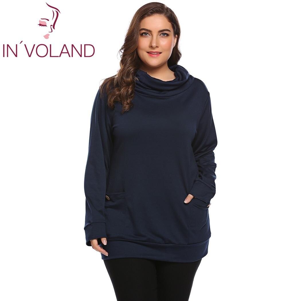 IN'VOLAND Big Size Women Hoodie Sweatshirt