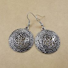 2018 fashion hot new Jewelry women classic fashion jewelry gift Ethnic Tibetan silver bohemian circle earrings