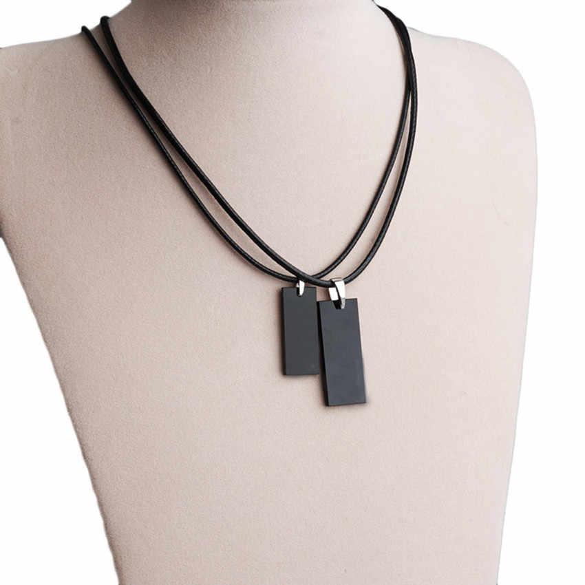 Fantastyczny 1PC skórzany łańcuszek naszyjnik czarny 45CM naszyjnik sznury Choker naszyjnik biżuteria akcesoria ozdoby Choker ozdoby