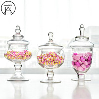Seasonings For Condiments Storage banks Glass Jar Candy Jar Glass Bottles Mason Jars Stockpot Glass Container Spices Storage Box