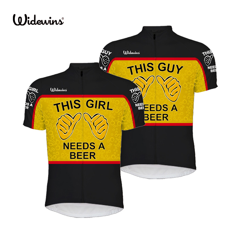 2017 New This Guy Needs A Beer Alien SportsWear UNISEX Cycling Jersey Clothing This Girl Needs A Beer Alien Bike Shirt 8003