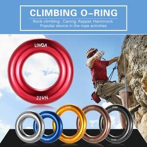 Image 5 - Lixada anneau de rappel en plein air 22KN escalade en montagne joint torique aventure arbre escalade hamac joint torique équipement