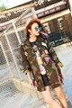 Melinda Style 2016 new women fashion jacket disruptive pattern army coat casual outwear free shipping