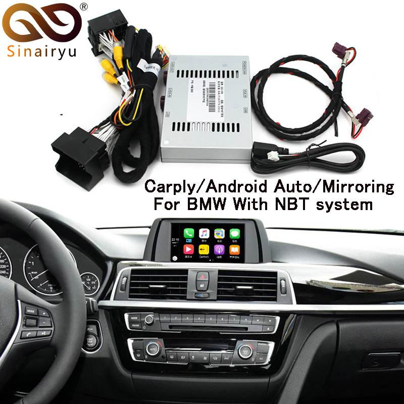 Sinairyu CarPlay Interface F30 Aftermarket OEM Apple Carplay Android Auto Solution Upgrade IOS Airplay Retrofit Box for BMW