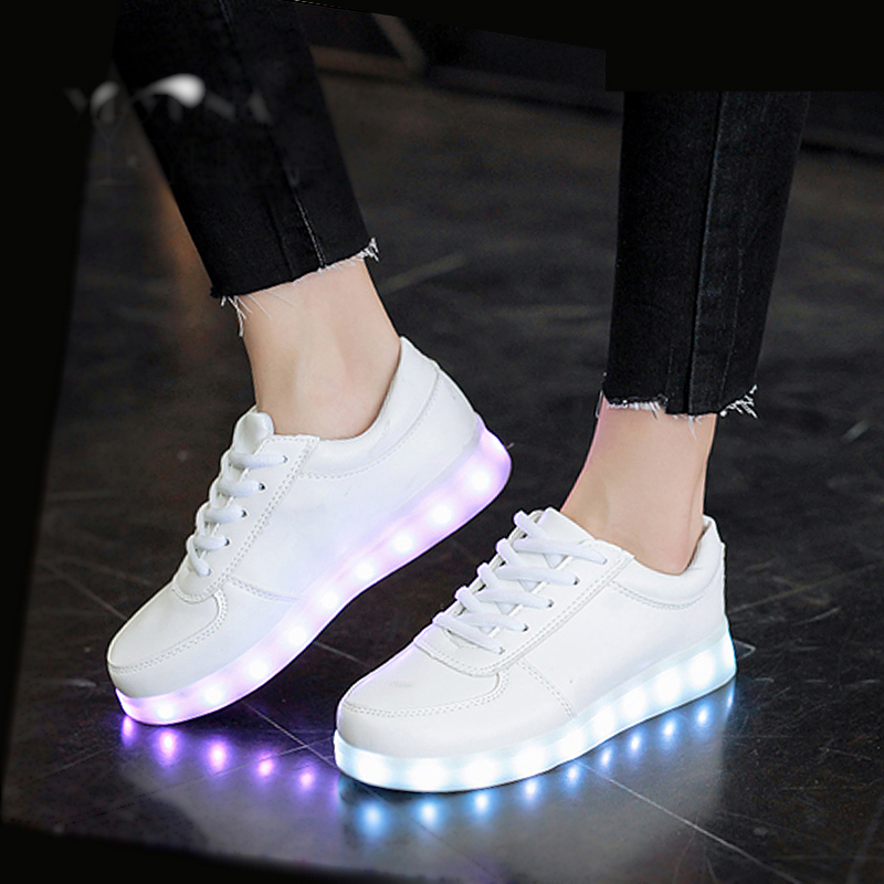 Size26-35//USB Charging kids basket glowing luminous children shoes with led light up casual shoes for boy&girls sneakers enfant