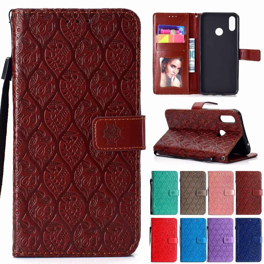 "P Smart+ Flip Leather Case For Huawei P Smart Plus 6.3"" PSmart + /Nona 3i 3D Vines Luxury Phone Cover Enjoy 7S Plus Handyhulle"