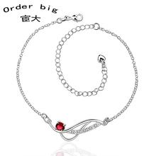 A036-A // Promotion Factory Price 925 jewelry silver plated popular anklets Chain,wholesale fashion Foot Chain