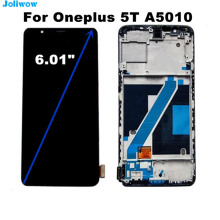 For Oneplus 5T A5010 LCD Display and Touch Screen+Frame Digitizer Assembly Replacement For OnePlus 1+5T LCD Screen for oneplus three full lcd display touch screen digitizer for oneplus 3 1 3 a3000 1 4cm a3003 1 2cm original new 100