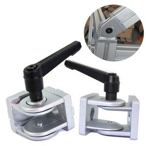 Image 5 - Die cast zinc alloy Flexible Pivot Joint Connector with Handle corner hinge for Aluminum Extrusion Profile 30/40/45s