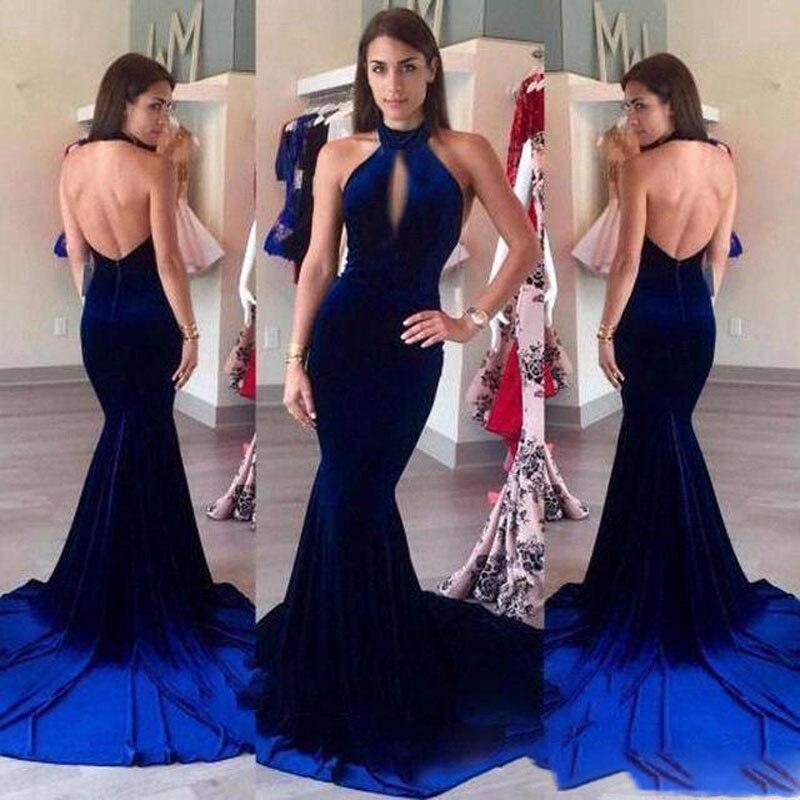 African Burgund Abendkleider Blau Lange South Roter Prom Velevt Neck Kleider Neue Teppich burgunder Halter Sexy Keyhole 2018 Backless Nach dwOOfq