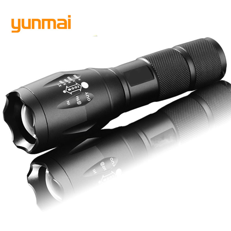 yunmai led 3800 LM 5-Mode linterna XM-L T6 LED Flashlight Zoomable Focus Torche zaklamp hand Light by 18650 or 3*AAA camping Q20 newest 100% authentic 3800 lumens 5 mode xm l t6 led flashlight zoomable rechargeable focus torch by 1 18650 or 3 aaa