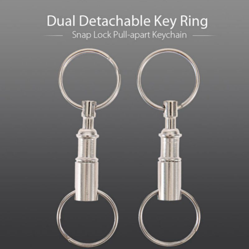 Outdoor Tactical Climbing Letters Dual Detachable Key Ring Padlock Snap Lock Pull-apart Keychain Travel Kit