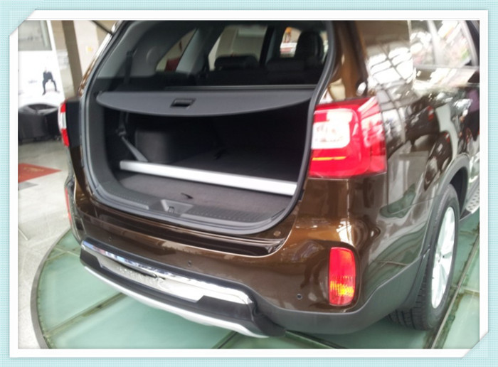 New! For Kia Sorento 2014 2015 Retractable rear cargo cover trunk shade security cover Black Auto accesaries diy rear trunk security shade hatch black cargo cover shade for ford edge 2011 2012 2013 only