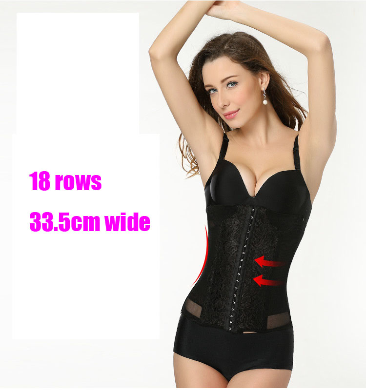 77c9bf424aa Women s mesh waist trainer corset with steel boned Sexy body shapers shape  waist cincher corset long wide waist trainer corsets-in Waist Cinchers from  ...