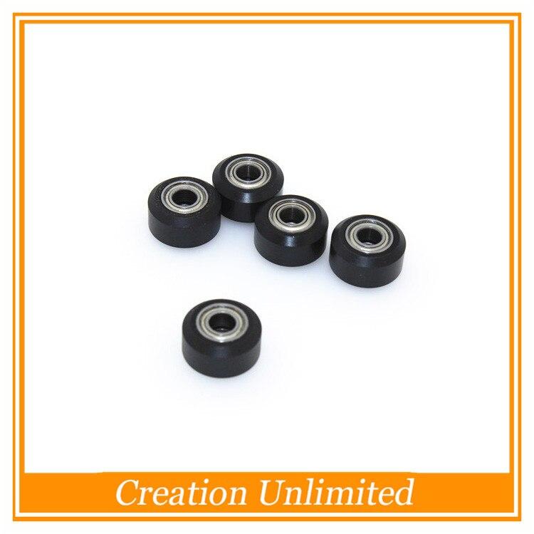 DIY For Openbuilds CNC bearing delrin V-wheel kit POM material 5 mm bore 1PC*dual bearing For V-slot wheel free shipping