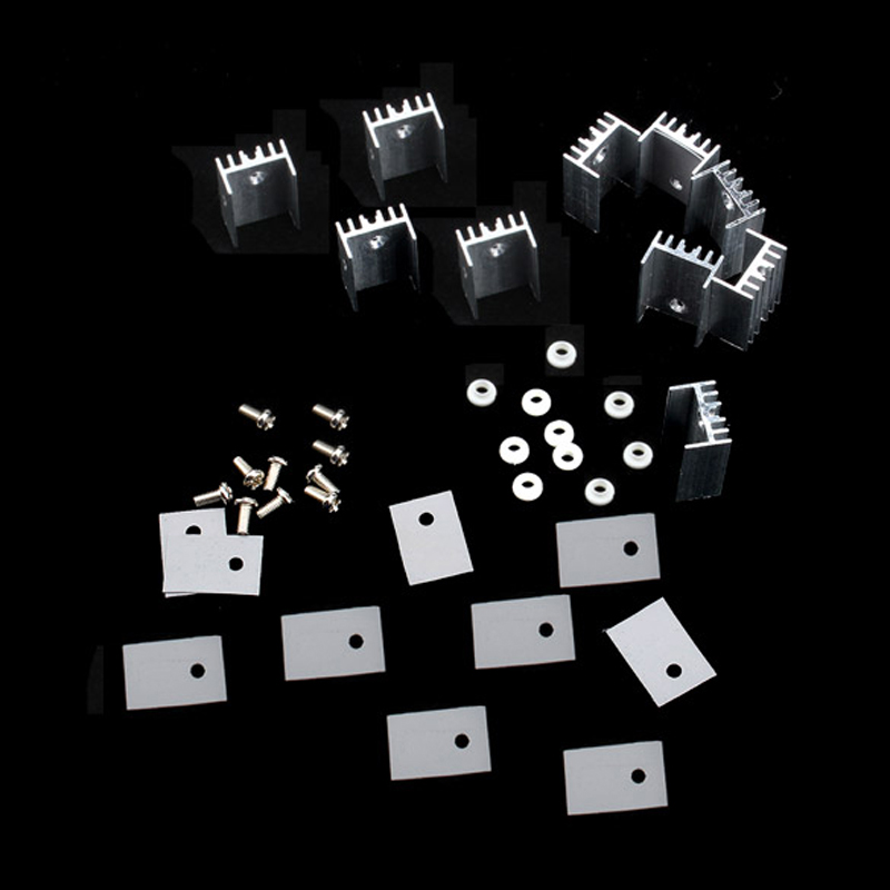 10pcs/lot 15*20mm TO-220 Heatsink Heat Sink With Screw Sets For TO-220 Computer PC Cooling Accessories недорго, оригинальная цена