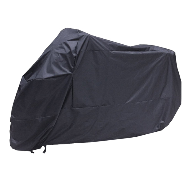 AUTO Black Motorcycle Motorbike Waterproof Water Resistent Rain UV Protective Breathable Cover Outdoor Indoor with storage bag