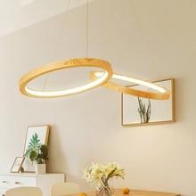 Nordic Loft LED Pendant Lights Modern Dining Room Two Wooden Round Indoor Deco Pendant Lamp Kitchen Fixtures Lighting Luminaire стоимость