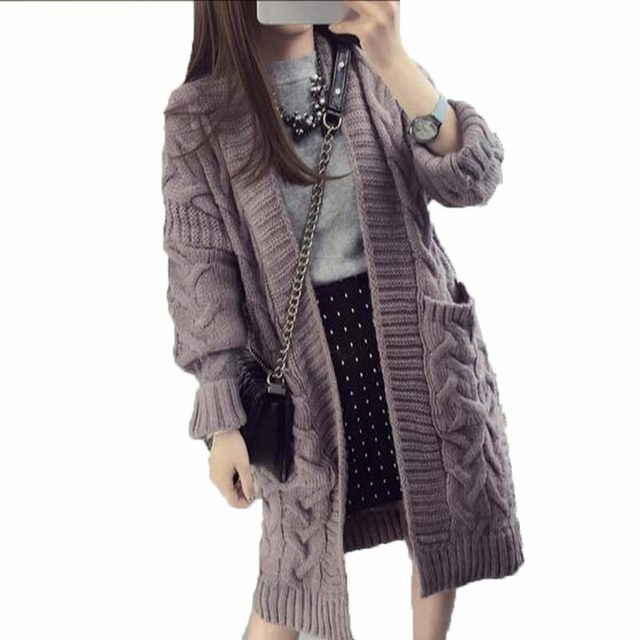 Design Autumn And Winter Women Plus Size Sweaters Knitted Cardigans