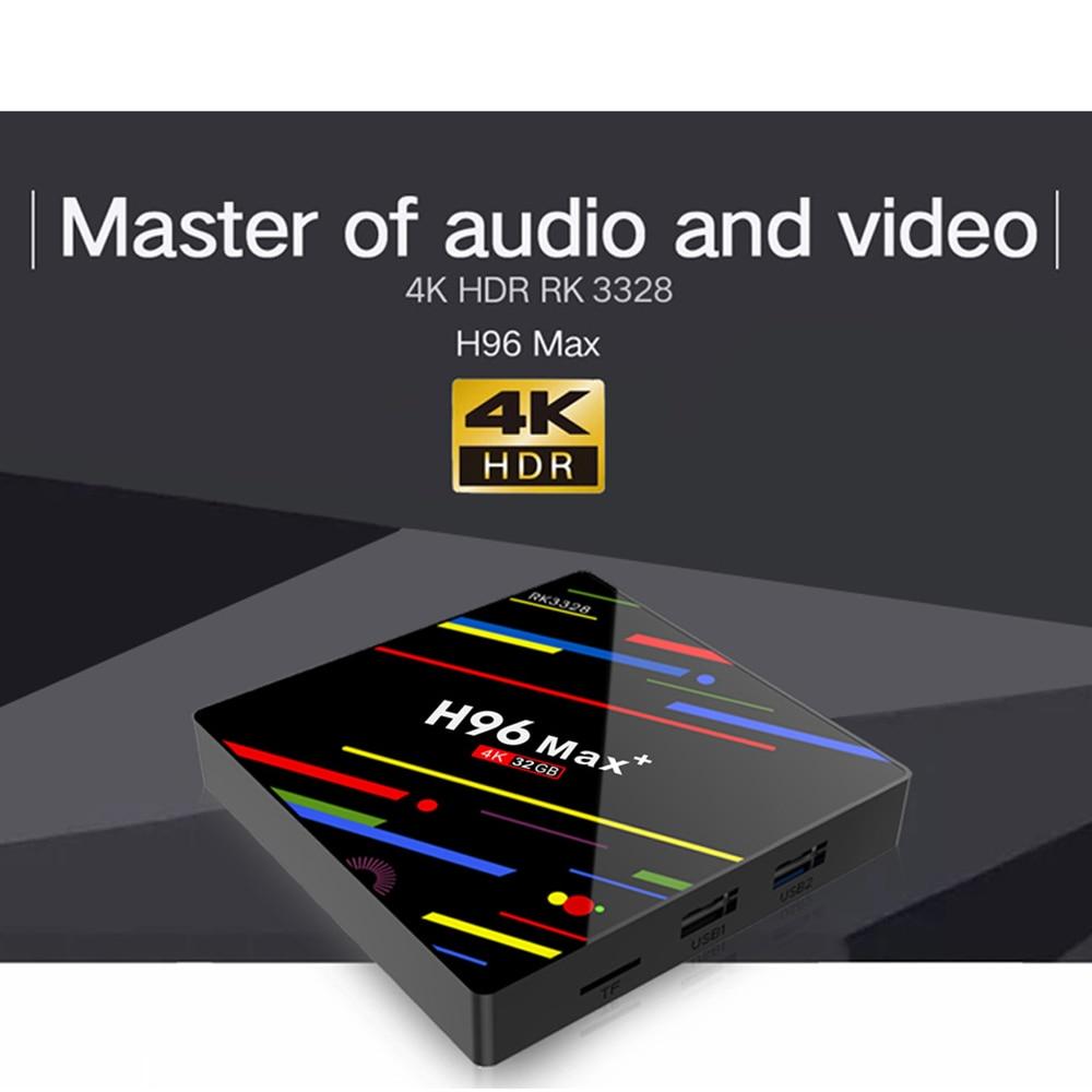 Boîtier TV Intelligent 4 K HD Android 9.0 Interfaces multiples lecteur multimédia décodeur prise en charge de tous les téléviseurs pour les jeux de cinéma maison