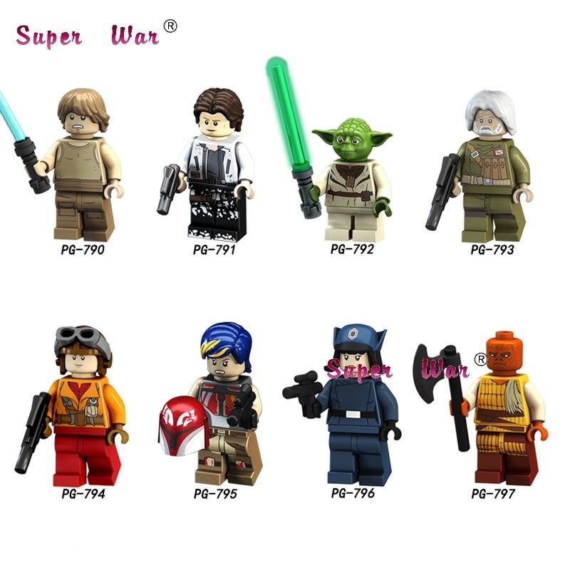 Beautiful 50pcs Star Wars Han Solo Luke Skywalker Rebel Pilots Sabine Wren Yoda Special Offer Clone Figure Building Block For Children Toy Mild And Mellow Model Building